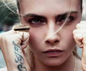 cara delevingne, model, and tattoo image