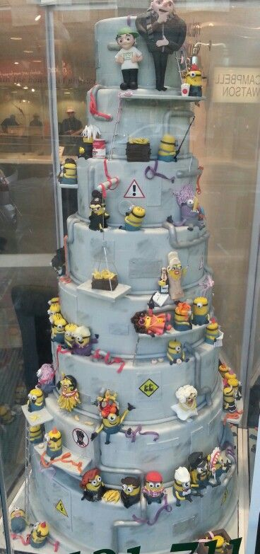 cake, food, and minions image