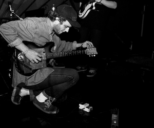 black and white, guitar, and mac demarco image