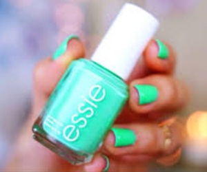 nails, essie, and green image