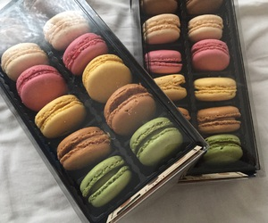 food, french, and macaroons image