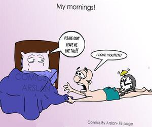 morning, funny, and bed image