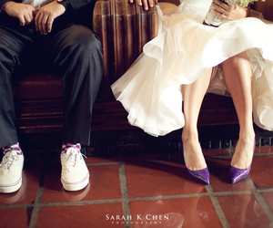 couple, purple, and shoes image