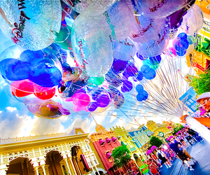 disney, balloons, and colors image