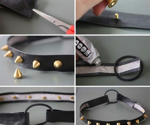 diy, spikes, and headband image