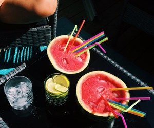 drink, girl, and friends image