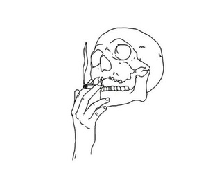 skull, smoke, and grunge image