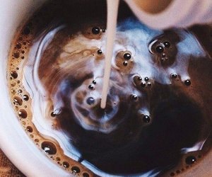 coffee, milk, and drink image