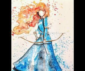 merida, brave, and princess image
