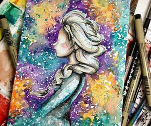 elsa, frozen, and art image