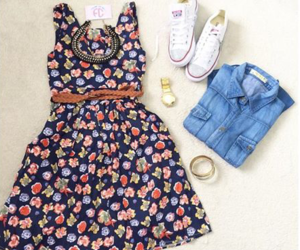 converse, dress, and jeans image