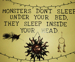 bed, dreamcatcher, and head image