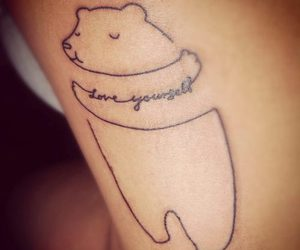 tattoo, bear, and love image