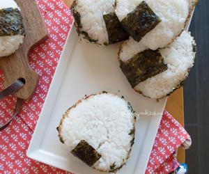 onigiri, cooking, and eats image