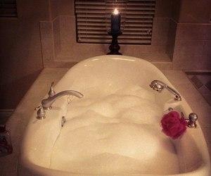 bath, luxury, and candle image