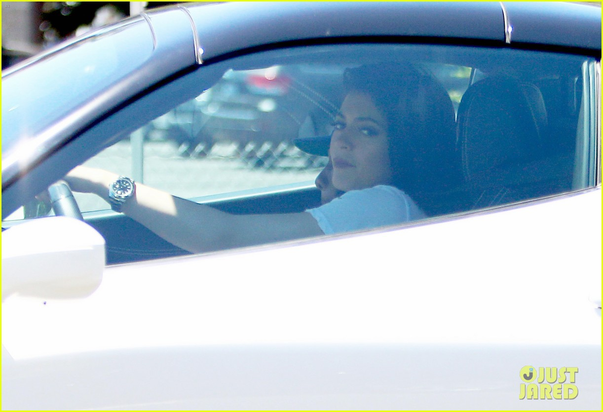 Kylie Jenner Takes Tyga For A Spin In Her New Ferrari Kylie Jenner Tyga Photos Just Jared