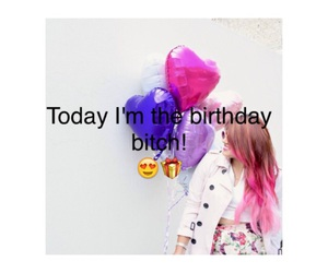 balloons, birthday, and bitch image