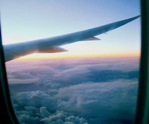 live, plane, and sky image
