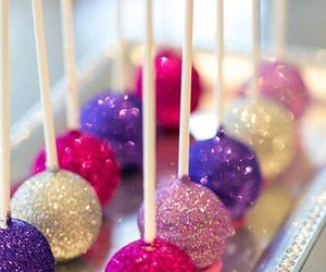 food, glitter, and pink image