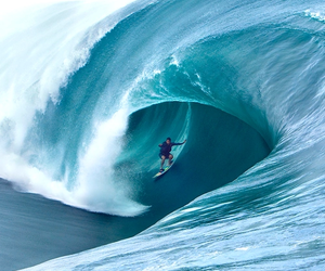 waves, summer, and surf image