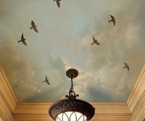 bird and chandelier image