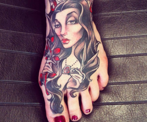 nails, red, and tattos image