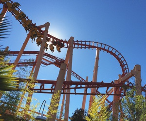 fun, Roller Coaster, and six flags image