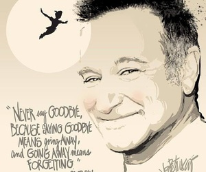 robin williams, peter pan, and quotes image