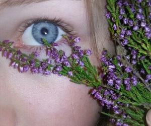 eye, flowers, and grunge image