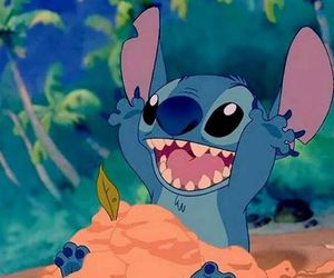 stitch, disney, and beach image