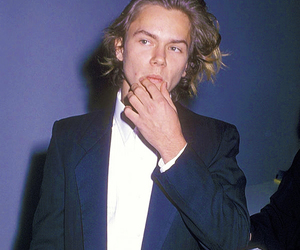 river phoenix and 80s image