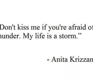 quote, storm, and poem image