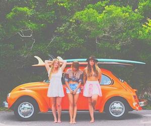 friends, surf, and boho image