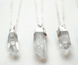 crystal, necklace, and white image