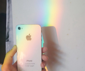 aesthetic, iphone, and rainbow image
