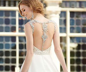 dress, beautiful, and white image