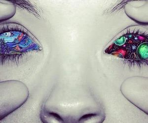 eyes, art, and drugs image
