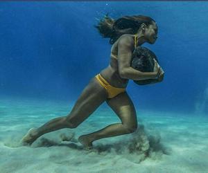 bikini, exercise, and ocean image