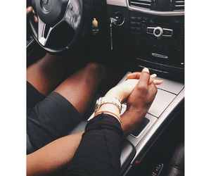 baby, mercedes, and black and white love image