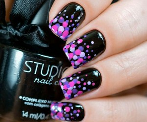 beautiful, black, and nails image