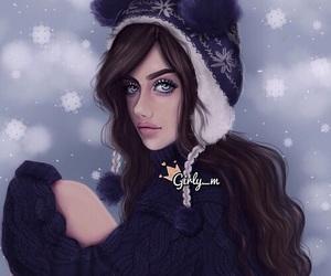 girly_m, winter, and art image