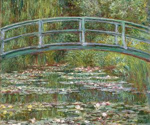 art, lilly, and pond image
