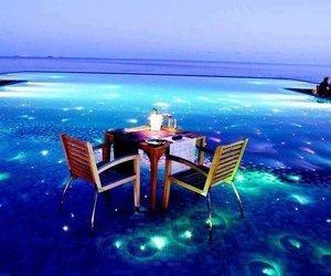 blue, Maldives, and romantic image