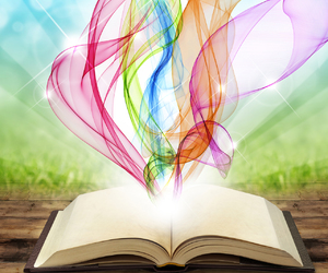 book, colors, and imagine image