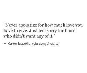 quotes, love, and sorry image