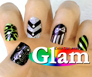 nail art, coloroutbreak, and nails image