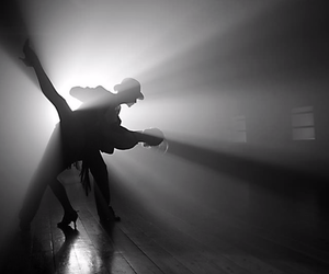 dance, black and white, and photography image