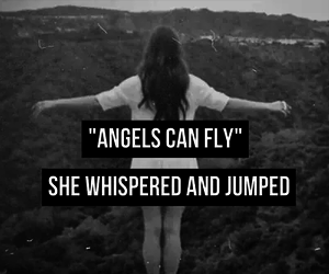 angel, fly, and jump image