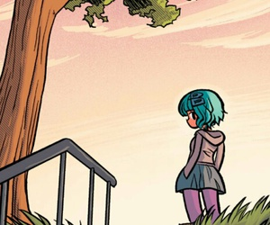 background, comic, and green hair image