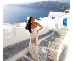dress, luxury, and santorini image